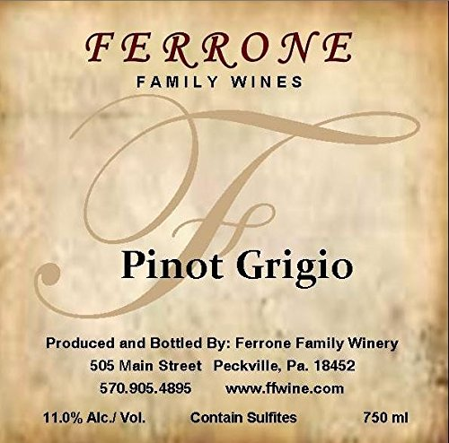 Nv Ferrone Family Winery Pinot Grigio 750 Ml