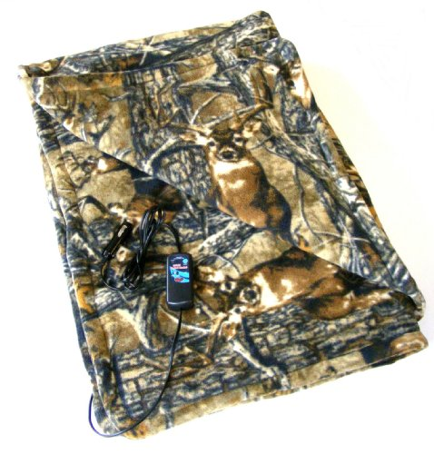 Trillium Twi-4001 12V Heated Camo Cozy Polar Fleece Blanket front-157037