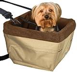 Kurgo Skybox Dog Booster Seat, Khaki with Brown Liner