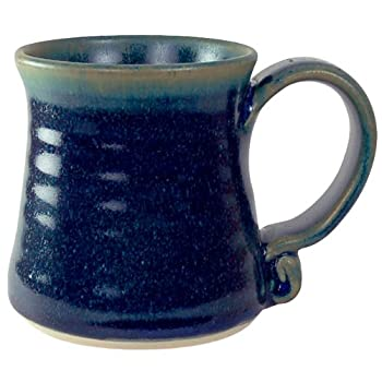 Handcrafted Feathered Blue Mug