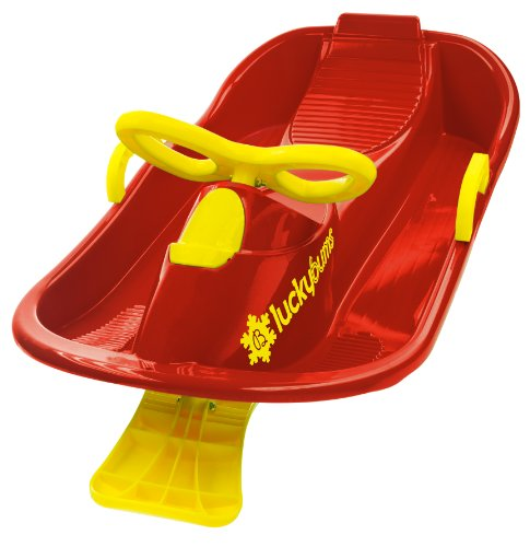 Lucky Bums Plastic Racer Sled, Red/Yellow