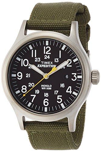 Timex - Orologio da polso, Uomo, Analogico, cinturino in nylon verde