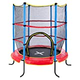 Ultrasport Kinder Indoortramplin Jumper 140 Inklusiv Sicherheitsnetz