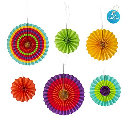 Carykon Tissue Paper Fans Collection Party Decoration 16