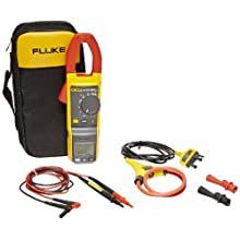 Fluke 381 Remote Display True-RMS Clamp Meter with iFlex, 60000 Ohms Resistance, 1000V AC/DC Voltage, 999.9A AC/DC Current