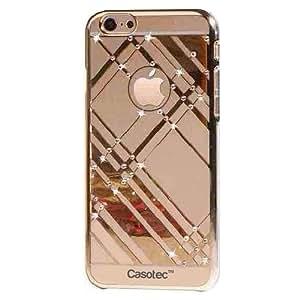 Casotec Crystal Bling Designer Hard Back Case for Apple iPhone 6 / 6S (4.7 inches) - Gold