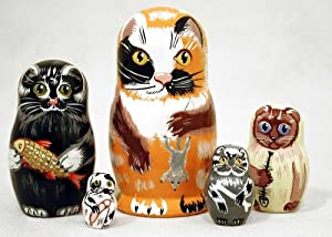 Alley Cat Nesting Doll 5pc./4""