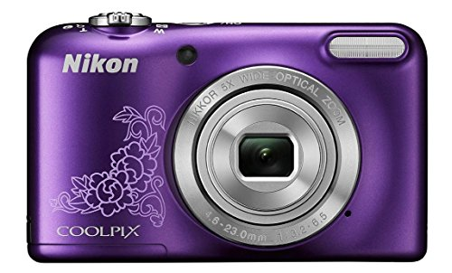 Nikon-Coolpix-L29-161MP-Point-and-Shoot-Camera-Purple-with-5x-Optical-ZoomMemory-Card-and-Camera-Case