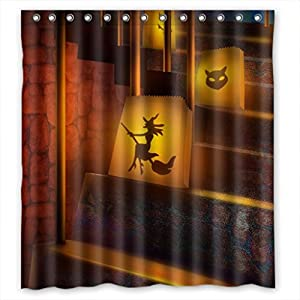 Polyester Shower Curtains Halloween Decoration Size Width Height 66 72 Inch