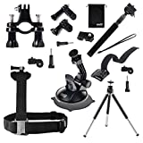 EEEKit 6-in-1 Travel Kit for Kodak PixPro SP1/SP360,Shoulder Body Harness/Extention Monopod Selfie Stick Pole/Car Dashboard Windshield/Bike Handlebar/Tripod/Wrist Mount(6-in-1, Kodak PixPro SP1/SP360)