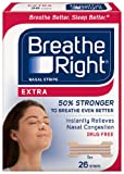 Breathe Right Nasal Strips, Extra, 26-Count Box