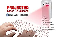 Alria Bluetooth Wireless Laser Projection Keyboard for Smartphone, PC, Tablet, Laptop, Iphone