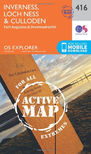 Inverness, Loch Ness and Culloden 1 : 25 000 (OS Explorer Active Map)