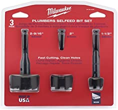Milwaukee 49-22-0030 3-Piece Self-feed Bit Plumbers Set