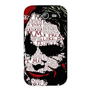 Insane Writing Back Case Cover for Galaxy Grand Neo