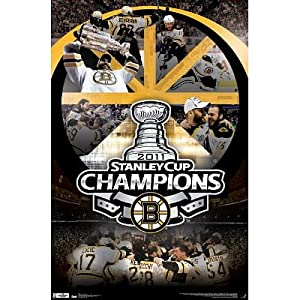 Boston Bruins 2011 Stanley Cup Celebration Sports Poster Print