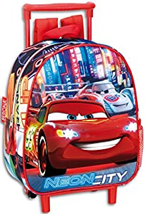 "Disney Cars""Neon City""Small Wheeled Backpack"