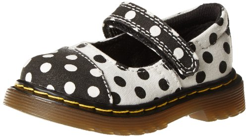 Dr. Martens Kids Black/White Bairn Toe Cap Mary Jane Uk 3 (Us Crib 4.0) B(M) Us front-413228