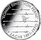 """20 Euro moneda conmemorativa """"125o cumpleaños de Nelly Sachs"""" (Jäger: 605) Prueba Numismática, Plata (Ag 925)"""