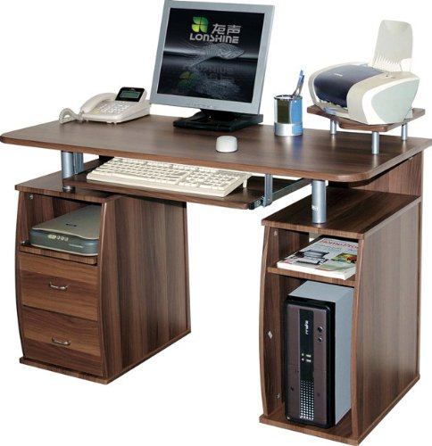 Office Computer Dark Walnut 5w