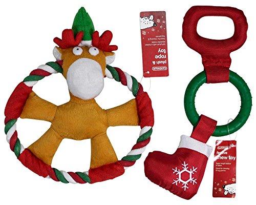 gardman-christmas-dog-toys-two-pack-of-strong-tough-nylon-hard-latex-rubber-soft-plush-rope-chew-squ