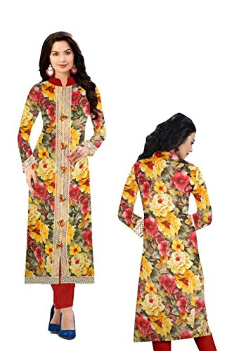 Yashvi Arts Women's Clothing Designer Party Wear Low Price Sale Offer Multi Color French butter Floral Printed Free Size Top Tunic Kurti   Kurta