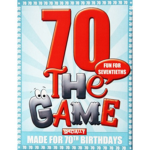 70TH BIRTHDAY GAME - new seventieth present with free sheet of gift wrap