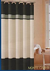 Soft Microfiber Fabric Shower Curtain Monte Carlo