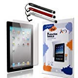 CCM� iPad 3 Accessories Bundle WrapShield Anti Glare Screen Protector Shield For iPad 3 generation (Set of 3) and Stylus Pen (3 Pack) ~ CCM