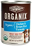 Organix Organic Chicken and Brown Rice Canned Canine Formula Dog Food, 12.7-Ounce Cans (Pack of 12)