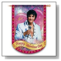 Elvis Presley Happy Valentine's Day Holiday Flag by The Hamilton Collection