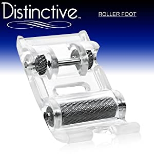 Distinctive Roller Sewing Machine Presser Foot - Fits All Low Shank Snap-On Singer*, Brother, Babylock, Euro-Pro, Janome, Kenmore, White, Juki, New Home, Simplicity, Elna and More!