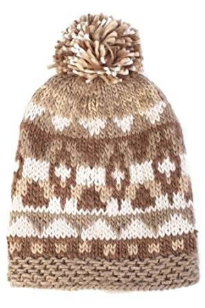 Mens SockShop Fleece Lined Chunky Knit Hat In 2 Colours - One Size - Brown