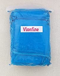 Vlonfine® 100 Pcs Organza Drawstring Pouches Gift Bags Turquoise 3x4 Inches (Turquoise)