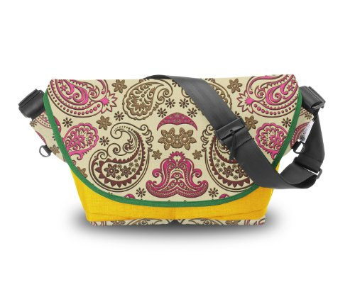 Atrangee Paisley Messenger Bag (Yellow, Green) (multicolor)
