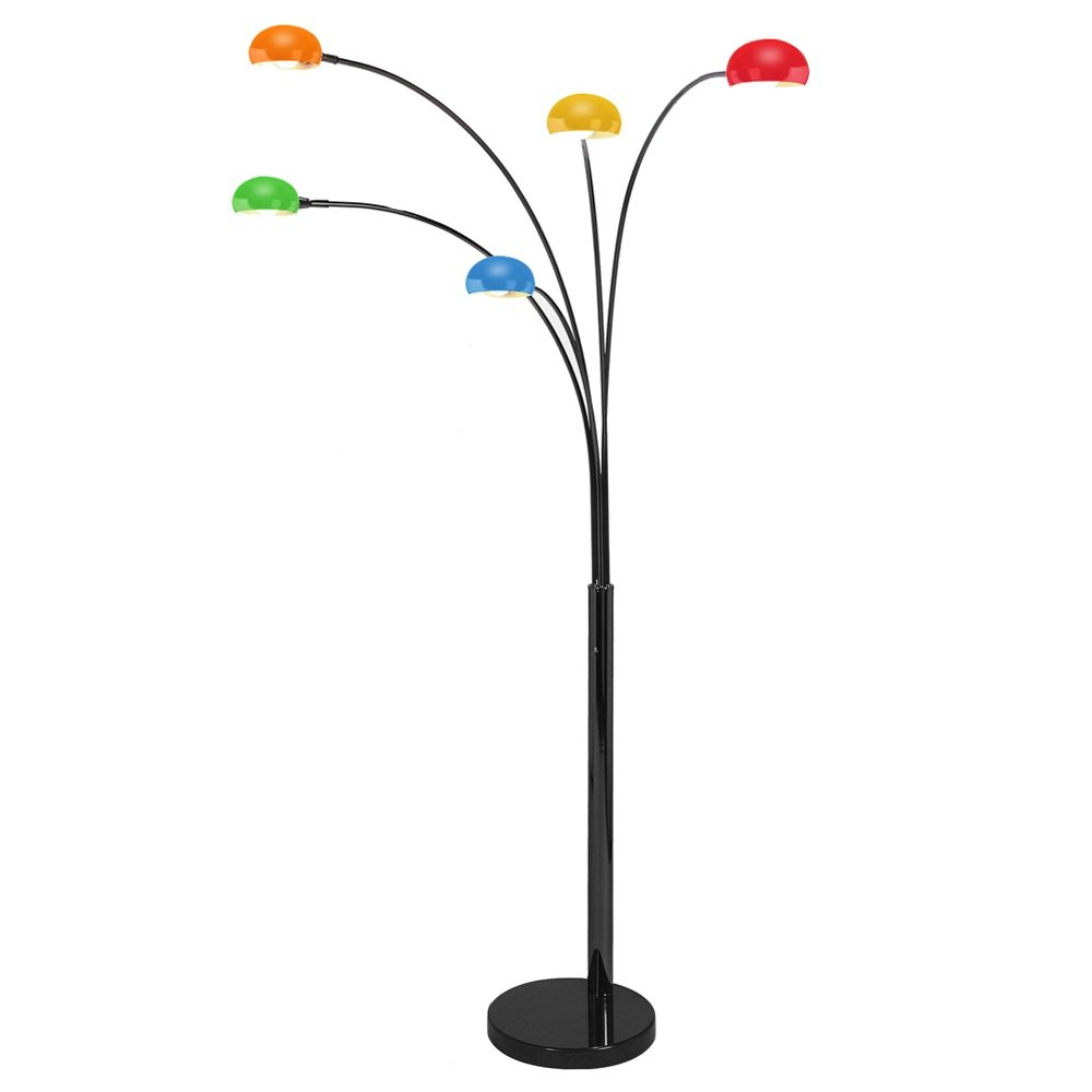 multi colored floor lamp floor lamp with multi. Black Bedroom Furniture Sets. Home Design Ideas