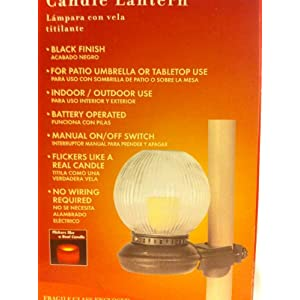 Click to buy Portfolio Indoor / Outdoor Flickering Candle Lantern Black Finish Battery Operated from Amazon!