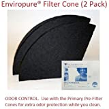 Package of 2 Genuine Filter Queen Charcoal Filters