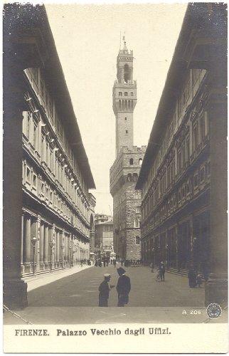 1910 Vintage Postcard Palazzo Vecchio & The Uffizi