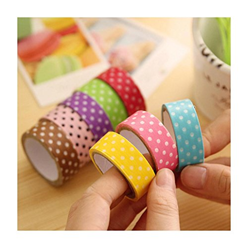 Sannysis® 8Pcs fai da te Cute Cartoon punteggia Sticker Paper per Scrapbooking Decoration