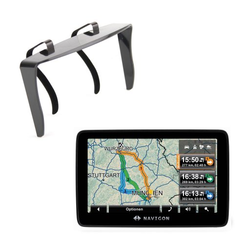 DURAGADGET GPS Sun Shade For Navigon 7310, 6350 Live, 6310, 4350 MAX, 40 Easy And 3310 Max