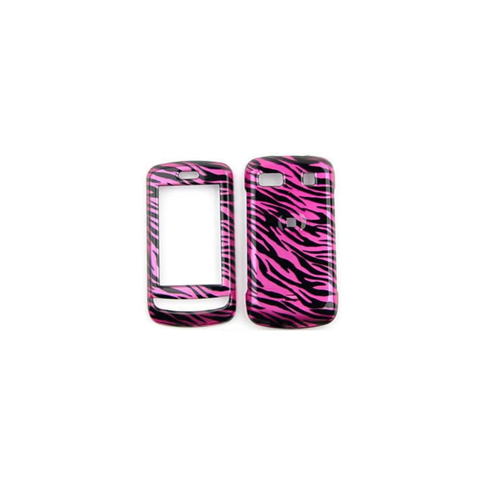 LG Xenon GR500 Transparent Design, Hot Pink Zebra Hard Case/Cover/Faceplate/Snap On/Housing/Protector