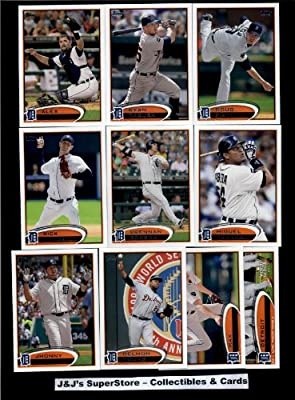 2012 Topps Detroit Tigers MLB Team Set (Series 1 & 2) - 22 Cards - Includes Porcello, Boesch, Fister, Cabrera, Avila, Prince Fielder, Turner, Valverde, Jackson, Verlander & more!