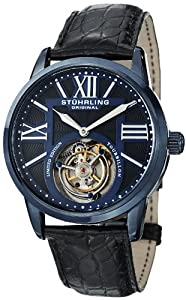 Stuhrling Original Men's 537.33X51 Tourbillon Grand Imperium Limited Edition Mechanical Blue Watch