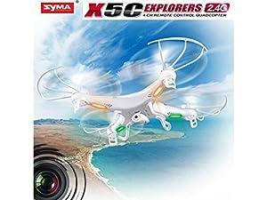 Syma X5C Exlorers 2.4G - Dron Quadcopter de 6 ejes con control remoto y cámara HD