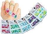 uñas calcomanías tatuaje arte tobogán de agua, cubierta completa, flores flor, paquete de 5 / CIII / // Nail Art Water Slide Tattoo Decals ? Full-Cover ? Blossom Flowers, 5 - pack ? /CIII/