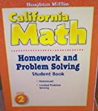 Houghton Mifflin California Math: Homework and Problem Solving Book, Grade 2