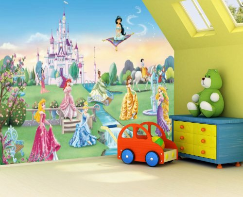 Princess castle photo wallpaper wall mural by for Castle mural wallpaper