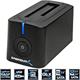 Sabrent USB 3.0 to SATA External Hard Drive Docking Station for 2.5 or 3.5in HDD, SSD [Support UASP and 4TB] (DS-UBLK)