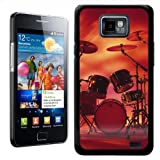 Fancy A Snuggle Rocking Rock Band Drum Set With Cymbals Design Hard Case Clip On Back Cover for Samsung Galaxy S2 i9100